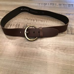 3/$30 ALDO Genuine Leather Belt Brown buckle boho